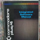 Computer Book - Commodore Plus 4 Small Spiral Bound Integrated Software Manual - 1984 Vintage