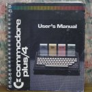 Computer Book - Commodore Plus 4 Small Spiral Bound User's Manual - 1984 Vintage