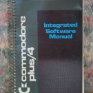 Computer Book - Commodore Plus 4 Tall Spiral Bound Integrated Software Manual - 1984 Vintage
