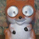 Solar Powered LED Light Up Decorative Stoneware Red Fox - 3 1/2""