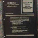 Tandy Radio Shack TRS-80 Scripsit Word Processor Training Program Lesson Book - 1979 Vintage