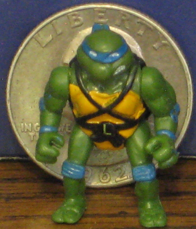 Teenage Mutant Ninja Turtles Mini Mutants Leonardo Movie Version 1990s Vintage