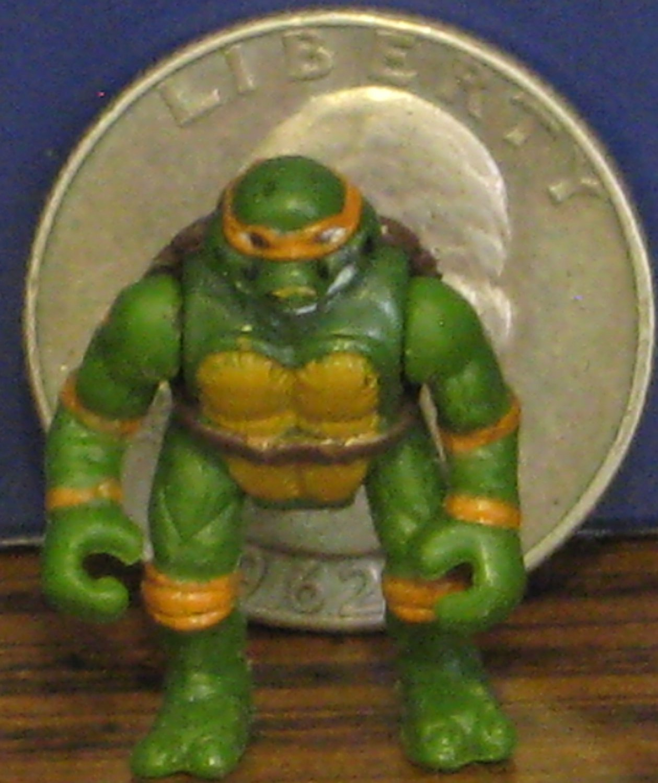Teenage Mutant Ninja Turtles Mini Mutants Michelangelo Movie Version 1990s Vintage