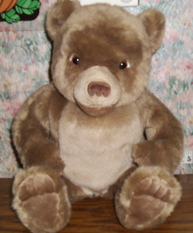 "SOLD - Little Bear Plush Teddy Bear - Sitting Position - 10"" - Maurice Sendak - Kidpower 1999 Vtg"