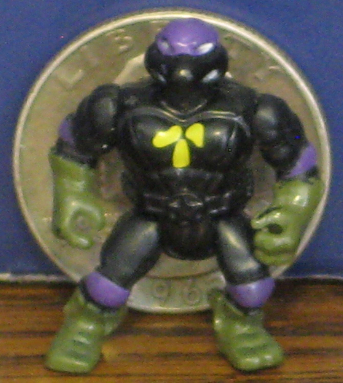 SOLD - Teenage Mutant Ninja Turtles Mini Mutants Donatello Superhero Black Outfit 1990s Vintage