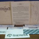 Commodore 64 Ultima II 1985 Disks and Documentation - Sierra - UNTESTED - 1985 Vintage