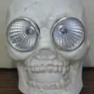 Solar Halloween LED Light Up Skull / Skeleton Head Yard Light Decoration