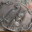 Pewter Belt Buckle - Native American and Eagle - Brave and Free - Artaffects - 1989 Vintage