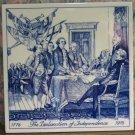 Signing of the Declaration of Independence Blue Delft Bicentennial Commemorative Tile - 1976 Vintage