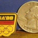 "USA Olympic Souvenir 3/4"" Lapel Pin - USA '88 - 1988 Vintage"