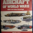 Aircraft of World War II Hardcover with Dust Jacket Color Book - Scale Model Reference 1980