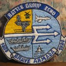 Battle Group Echo Brave Armada US Navy Carrier Group 1983 / 84 Cruise Patch - 1984 Vintage