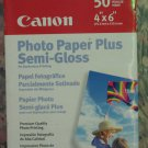 """Canon Photo Paper Plus Semi-Gloss  4"""" x 6"""" - 50 Sheets Pack - New and Sealed"""