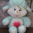 "Care Bear Cousins Gentle Heart Lamb 13"" Plush Sheep - Kenner - 1984 Vintage"