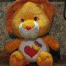 """Care Bear Cousins Plush Brave Heart Lion 14"""" Plush - Solid Cloth Mane - 2005 Vintage"""