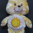 """Care Bears Plush Funshine Bear 9"""" Plush - Iridescent Fur - Play Along - 2004 Vintage"""