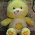 "Care Bears Funshine Bear 13"" Plush - Play Along - 2002 Vintage"