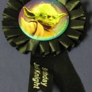 "Star Wars Yoda Birthday Jedi Knight Black 3 3/4"" Ribbon / 2 1/4"" Pinback - Hallmark - 2009"