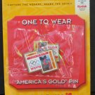 Olympic Games Great Moments Pin One to Wear Dan Jansen Men's Speed Skating 1994 - 2001 Vintage