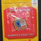 Olympic Games Great Moments Pin One to Wear Eric Bergoust Freestyle Skiing 1998 - 2001 Vintage