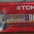 Audio Cassette Tape - TDK Superior D90 - 90 Minutes - New / Sealed