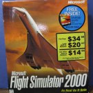 Microsoft Flight Simulator 2000 and Strategy Guide Bundle - New in Box - 1999 Vintage