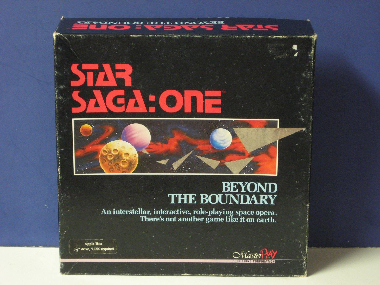 Apple IIGS Star Saga One Beyond the Boundary Computer / Tabletop Combo RPG - 1988 Vintage
