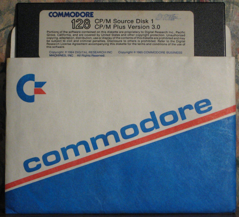 Commodore 128 CP/M Plus Version 3.0 Source Floppy Disk - 1985 Vintage