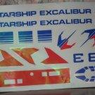 Estes Starship Excalibur Model Rocket Water Transfer Decal Sheet - 1980 / 1981 Vintage