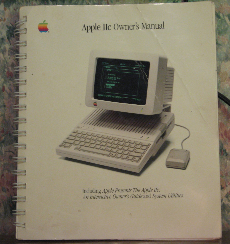 Apple IIc Personal Computer Owner's Manual - No Disks - 1984 Vintage