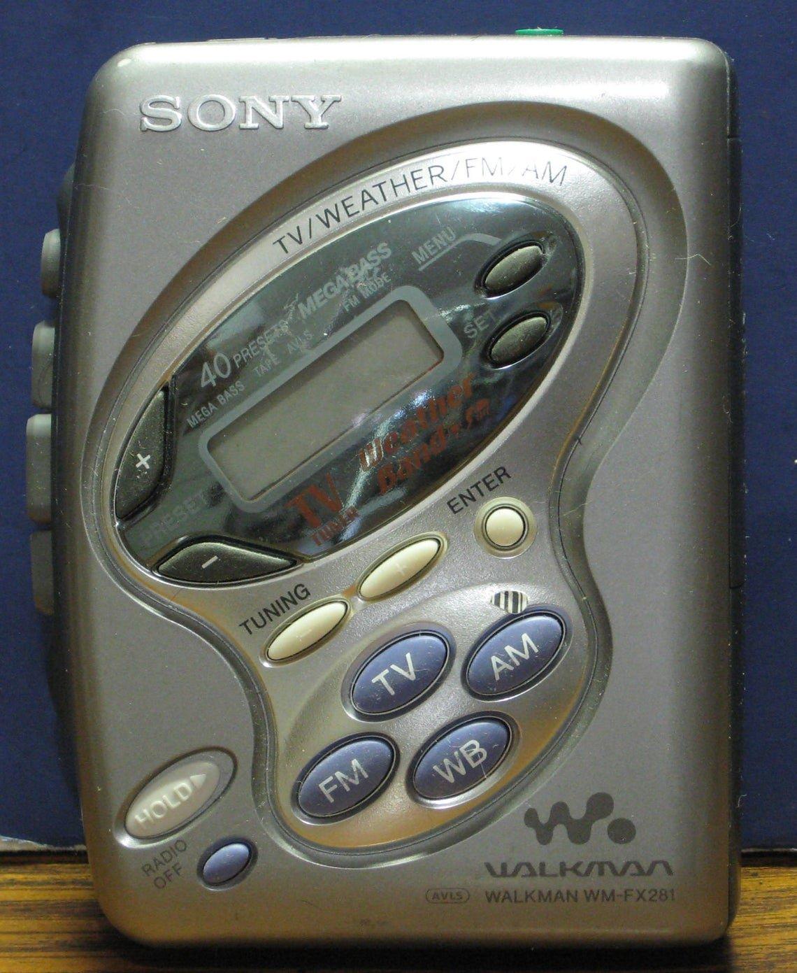 Sony Walkman WM-FX281 Cassette Player Radio - FM AM TV Band Weather Band - 1995 Vintage