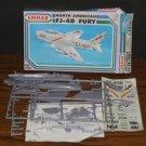 Model Kit - Emhar North American FJ-4B Fury Navy Carrier Fighter Jet - 1989 Vintage