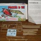 Model Kit - Esci 9015 - Fokker D VII Biplane - 1/72 Scale - Unassembled - 1980 Vintage