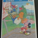 Disney Donald Duck Mickey Mouse Basketball Frame Tray Puzzle - Golden Books - 1990s Vintage