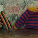Sesame Street Bert and Ernie Mini Plush Doll Shirts - Knickerbocker Toys - 1980s Vintage