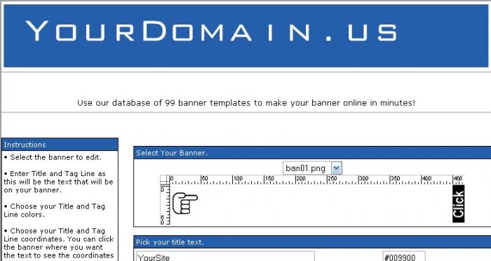 Banner Maker Website