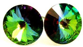 Large 10mm VITRAIL Swarovski Crystal Stud Post Earrings EA54