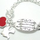 "Inspirational bracelet inscribed: ""Those who hope in the LORD...BR58"