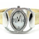Crystal Gold Cuff Fashion Watch WW136
