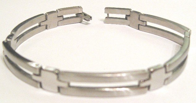 Shiny Satin Finish Stainless Steel Bracelet SSB10