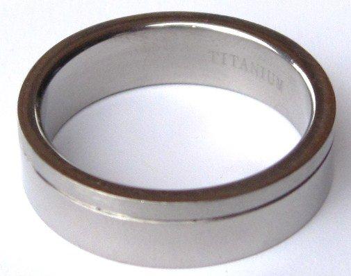 6mm Satin Finish High Polish Titanium Ring SSR19  Sz 8-9-11-12-13