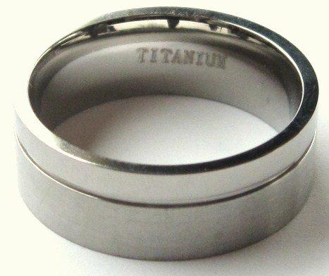 8mm High Polish Satin Finish Titanium Wedding Ring SSR20  Sz 8, 11, 12, 13
