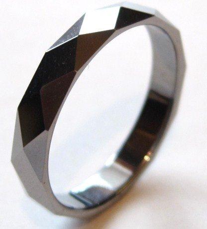 High Polish Multi Facted Tungsten Carbide Ring TU3050