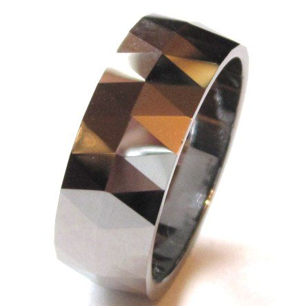 8mm High Polish Tungsten Carbide Wedding Band Ring, TU3046