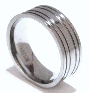 Men's Stylish and Sophisticated Solid Titanium Wedding Ring SSR22 Sz 8-9-12-13