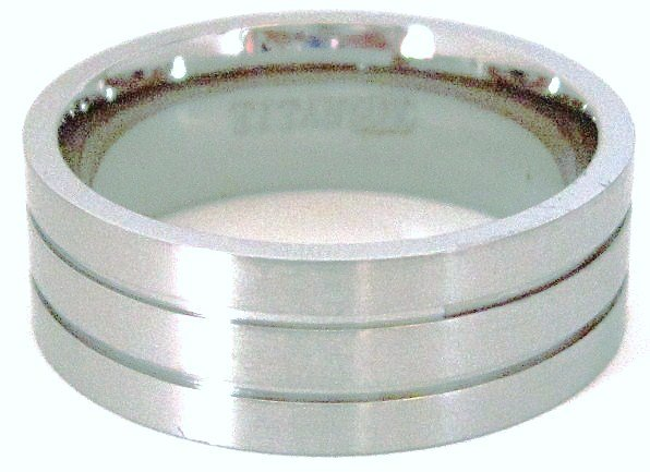 8mm Satin Finish Titanium Wedding Ring SSR23 Sz  11, 12, 13