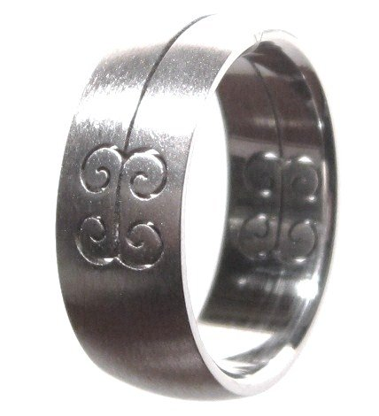 Laser Design Stainless Steel Ring SSR43
