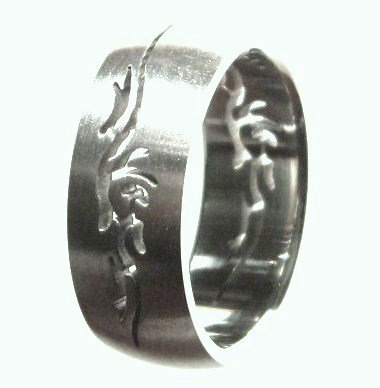 Tribal Laser Cut  Stainless Steel Ring SSR39