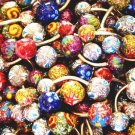 5 Assorted Handpainted Glitter Glazed Navel Belly Rings Wholesale