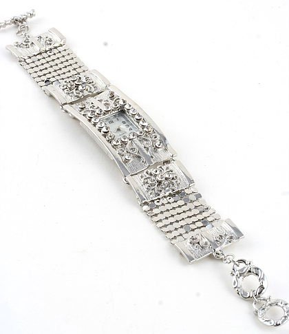 Crystal Silver Mesh Bracelet Toggle Fashion Watch WW119